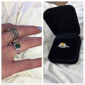 JUST IN❗️FIRE OPAL RING W CZ ACCENTS
